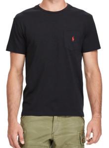 랄프로렌 폴로 티셔츠 커스텀 슬림 핏 코튼 RL BLACK
