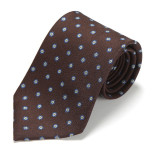MEDALLION PRINTED SILK TIE 3RD