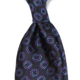 EUCLID RECTANGLE WOVEN SILK JACQUARD TIE