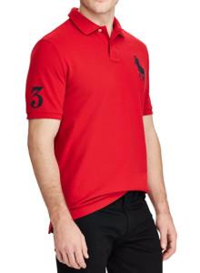 랄프로렌 폴로 티셔츠 클래식 핏 메쉬 - MARTIN RED