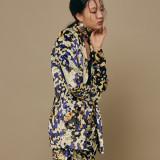 블리다 [VLEEDA] yellow mosaic velvet jacket + skirt 세트 60% 특가