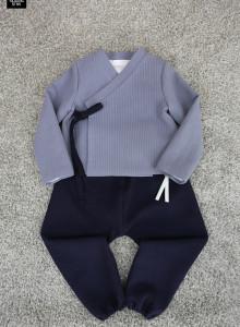 겨울 남아생활한복 (겨울이중지원단) 저고리+바지세트 색상다양
