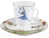 (예카 공구) 4. 로미오와 줄리엣 발레찻잔 (잔+소서+소접시) 로모노소프 임페리얼 포세린 예쁜그릇