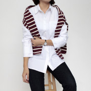 더블 커프스 셔츠 (2color)