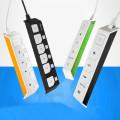 디자인 멀티탭 네모탭 3구 4구 5구 일반/개별 1.5M 3M 5M 그린 오렌지 블랙&화이트 올블랙