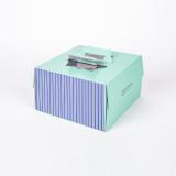 쉬폰 케익박스 2호 (스트라이프) (케익상자/케익박스/케익포장/cake box/케이크 상자/케이크 박스/케이크 포장)