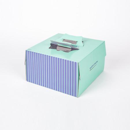 쉬폰 케익박스 1호 (스트라이프) (케익상자/케익박스/케익포장/cake box/케이크 상자/케이크 박스/케이크 포장)