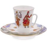 (예카 공구) 5. 세헤라자데 발레찻잔 (잔+소서+소접시) 로모노소프 임페리얼 포세린 예쁜그릇