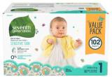 미국기저귀 세븐스 제너레이션 아기 기저귀 사이즈 1 (102ea) 몸무게 3.6~6.4kg용