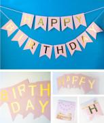 생일 가랜드 /HAPPY BIRTHDAY 종이 가랜드