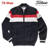 타이틀리스트 골프웨어 케이블 방풍 스트레치 집업 니트 스웨터 TWMK1761 티디샵