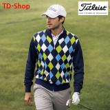 타이틀리스트 골프웨어 다이아몬드 무늬 축열 방풍 니트 스웨터 TWMK1658 티디샵