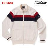 타이틀리스트 골프웨어 스트레치 케이블 방풍 집업 니트 스웨터 TWMK1761 티디샵