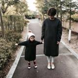 (겨울신상)베베브루니 엄마랑딸 커플룩 넘버원원피스[먹색, 베이지] 딸(XS~XL) 엄마(free)