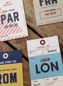 LUGGAGE TAGS CARD - 빈티지 러기지택 카드, 손글씨 명함 7종