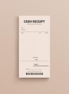 CASH RECEIPT MEMOBLOCK - 영수증 메모지
