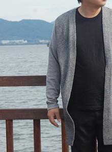 남자 빅사이즈 가디건 - 모던 보카시 2XL