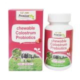 뉴질랜드 엔조헬스 Premium 씹어먹는 초유 유산균(딸기맛) 1,250mg 120 타불렛