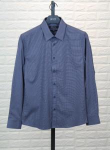 BON 멜란지스몰체크 블루셔츠 GF6FBA531