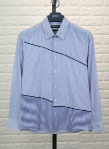 BON 스트라이 절개 배색 셔츠 GF6WBA556