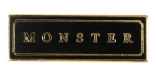몬키즈 MONSTER PIN (Black/gold)