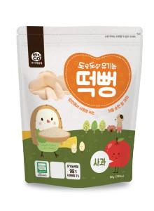 도담도담 유기농 떡뻥 사과