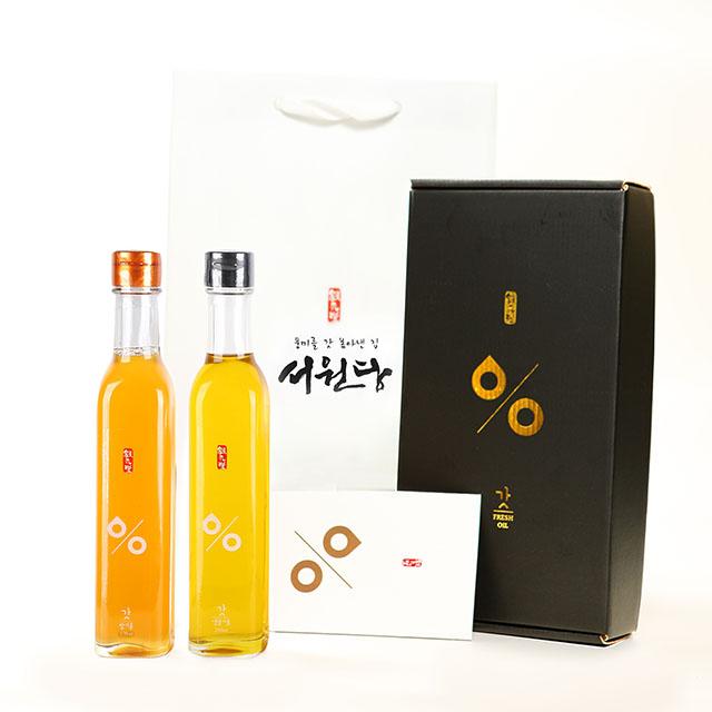 서원당 선물세트 6호 / 참기름250ml+생들기름250ml