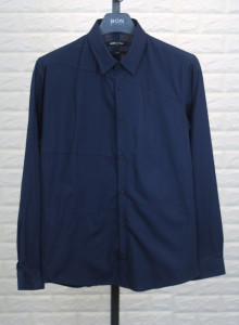 BON 앞판 사선절개 네이비 셔츠 GF6FBA512
