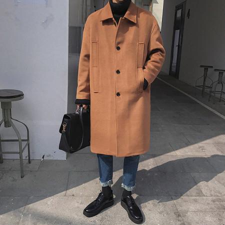오버핏 사이드 포켓코트 / overfit side pocket coat (2color)