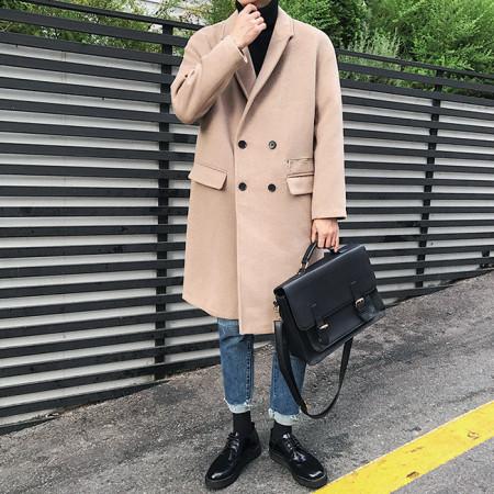 지퍼 더블 롱 코트 / zipper double long coat (2color)
