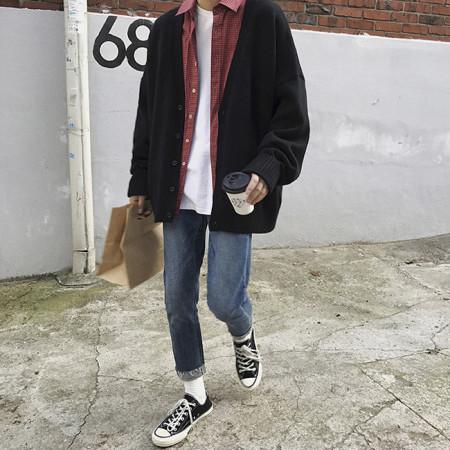 오버핏 니트 가디건 / overfit knit cardigan (3color)