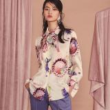 블리다 mixflower long blouse