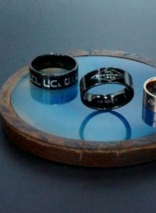 (무료배송) 8.0 나만의 레터링 반지 (써지컬 스틸 , 블랙,블루, 핑크)