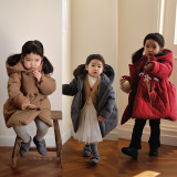 (겨울신상)완두콩 디셈버 패딩코트[브라운, 그레이, 레드] 5호~13호