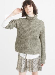 아베크롬비 여자 터틀넥 스웨터 올리브 SHAKER TURTLENECK SWEATER OLIVE