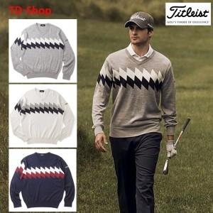 타이틀리스트 골프웨어 추동 브이넥 니트 웨어 스웨터 TWMK1655 티디샵