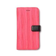제누스 아이폰8 플리츠 가죽케이스 핑크