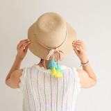 [ZOENA]rattan hat.