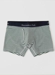 [미국] 아베크롬비앤피치 남자팬티 Abercrombie & Fitch - BOXER BRIEF Green And White Stripe