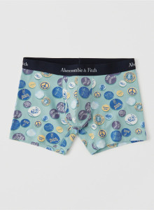 [미국] 아베크롬비앤피치 사각팬티 Abercrombie&Fitch BOXER BRIEF Blue Button Pattern