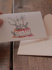 [미니 일러스트 카드] congratulations!