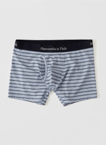 [미국] 아베크롬비앤피치 사각팬티 Abercrombie&Fitch BOXER BRIEF Blue And White Stripe