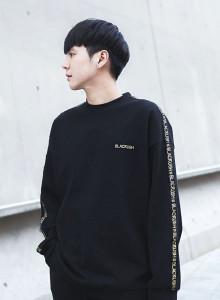 [블랙크러쉬 자체제작] 남성 오버핏 맨투맨 트레이닝복 티셔츠
