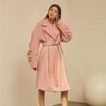 [블리다] 핑크 볼륨 롱 코트 VLEEDA pink volume long coat