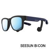 11-3)스마트글라스SEESUN B:CON-10 (시선 비콘) 무광블랙/네이비/블랙/블루미러편광선글라스 블루투스헤드셋안경