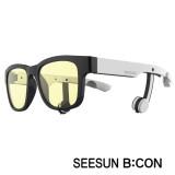 8-2)스마트글라스SEESUN B:CON-10 (시선 비콘) 유광블랙/화이트/화이트/청광(실내용:TV,모니터등) 블루투스헤드셋안경
