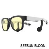 7-2)스마트글라스SEESUN B:CON-10 (시선 비콘) 유광블랙/화이트/블랙/청광(실내용:TV,모니터등) 블루투스헤드셋안경