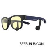 12-2)스마트글라스SEESUN B:CON-10 (시선 비콘) 유광블랙/네이비/블랙/청광(실내용:TV,모니터등) 블루투스헤드셋안경