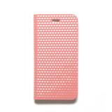 제누스 아이폰8 큐브 가죽케이스 핑크