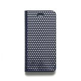 제누스 아이폰8 큐브 가죽케이스 네이비